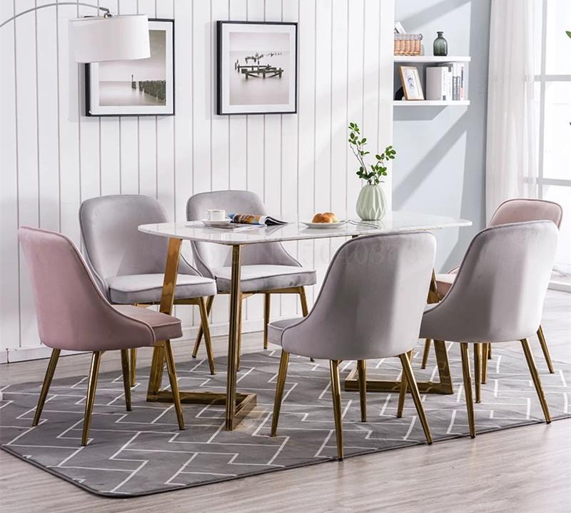 Nordic Light Luxury Dining Chair Mesh Red Chair Makeup Nail Art Metal Home Bedroom Chair Coffee Shop Chair