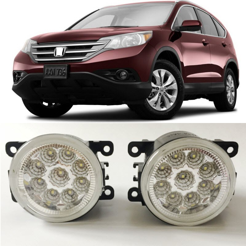 Car-Styling For Honda CR-V 2012 2013 2014 9-Pieces Leds Chips LED Fog Light Lamp H11 H8 12V 55W Halogen Fog Lights partol black car roof rack cross bars roof luggage carrier cargo boxes bike rack 45kg 100lbs for honda pilot 2013 2014 2015