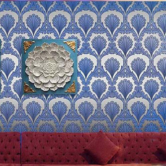 European Gold Foil Reflective Wallpaper Modern Blue Golden Orange Pvc Wall Paper For Tv Background In Wallpapers From Home Improvement On