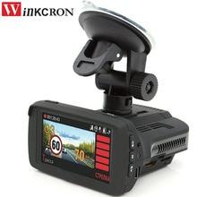 (Russian voice) 3 in 1 Car Radar detector 2.7″ Car DVR Camera with GPS HD 1296P Speedcam anti radar detectors X/K/Ka/La/CT