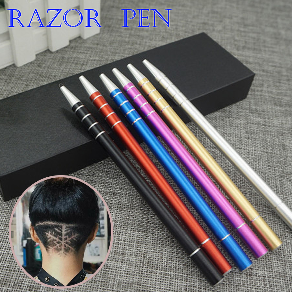 SALE Magic Hair Engraving Pen Razor Pens Eyebrow Shaving Razor, Multicolor Stainless Steel Hair Carving Trace Pen 10 Blades