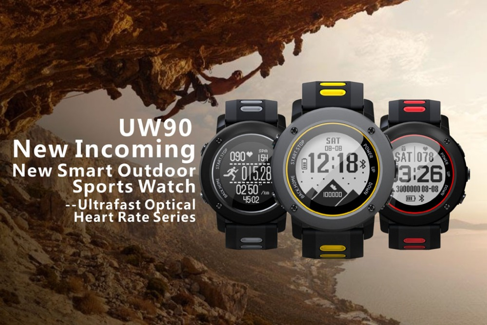все цены на Professional GPS Outdoor Sport Smart Watch UW90 Sport Wristwatch IP68 Waterproof Swimming Snoeling Heart Rate Fitness Tracker онлайн