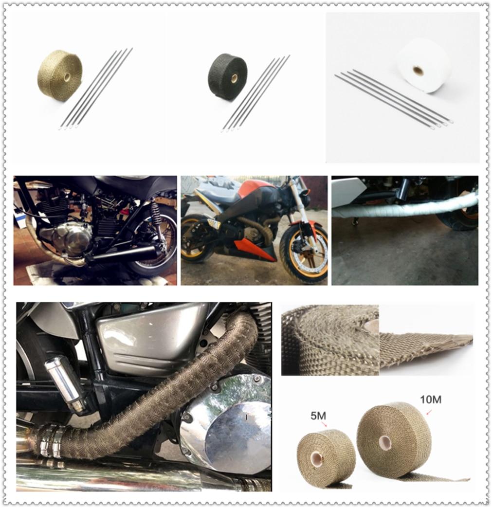 Фото 5 м 10 мотоцикл выхлопной трубы изоляции ленты термостойкий обмотки коллектор для