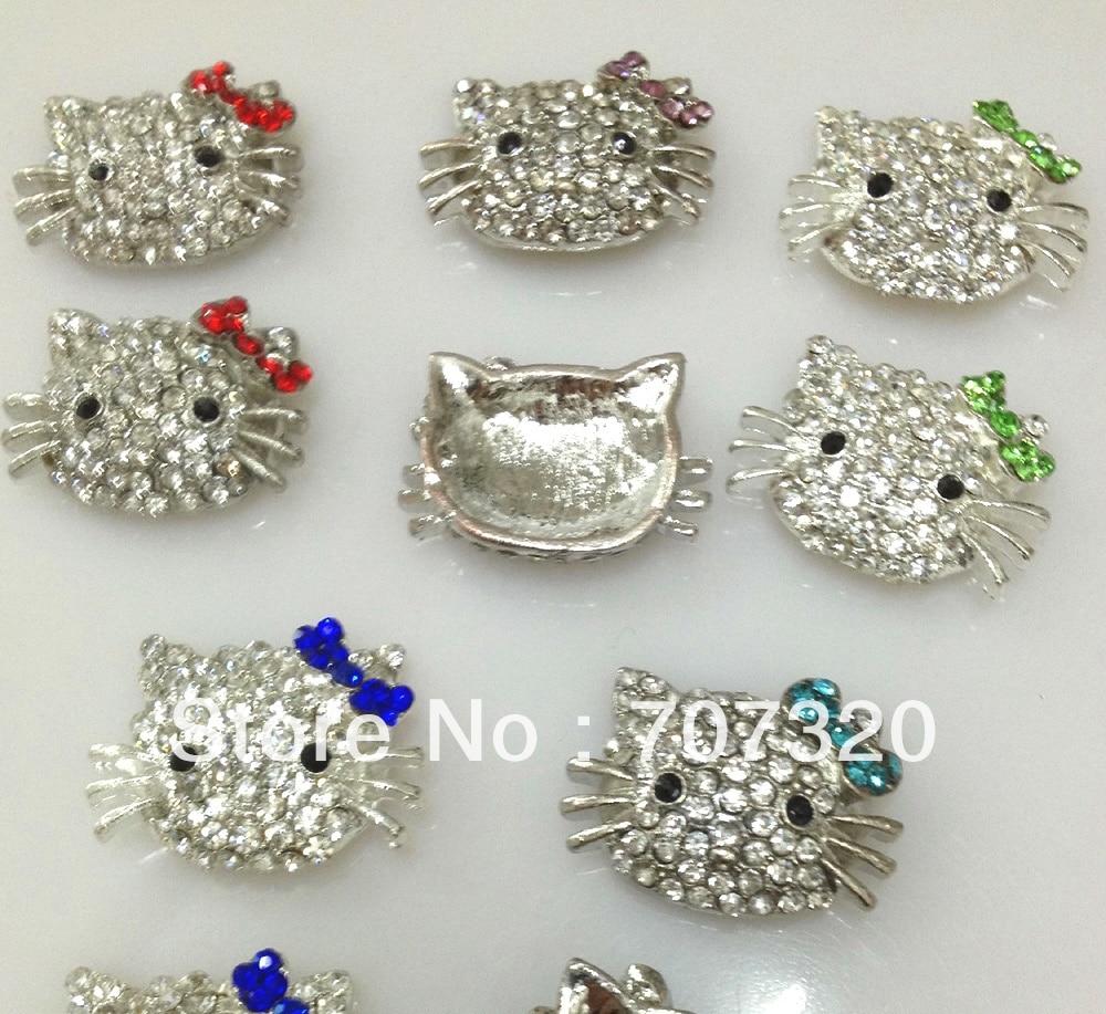 DIY 10 шт. Hello Kitty бусы Разноцветные для Шамбалы браслет из бисера/браслет