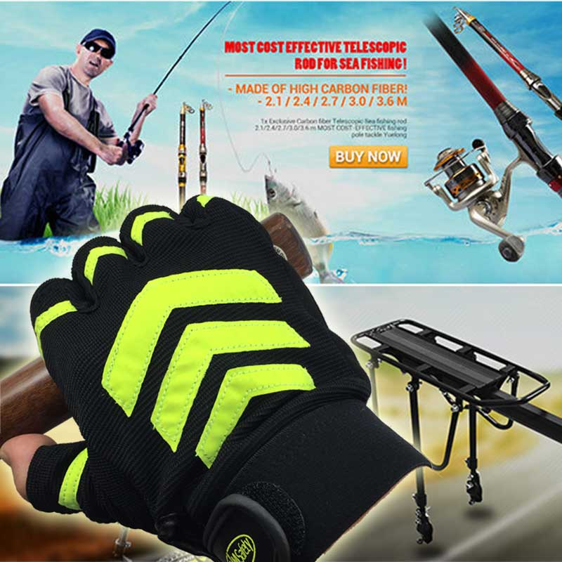 NMSAFETY Skidproof Fishing Gloves Anti Slip Fishing Rod Tackle Gloves Outdoor Sports Glove dasnaki anti slip fishing gloves 3 fingers cut fingerless gloves casting fishing outdoor sports breathable fishing gloves