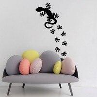 Kertenkele Duvar Sticker Sürüngen Paw Baskılar Yatak Odası Dekorasyon Sanat Vinil Evcil Su Geçirmez Duvar Çıkartmaları Ev Çıkartmaları Dekor