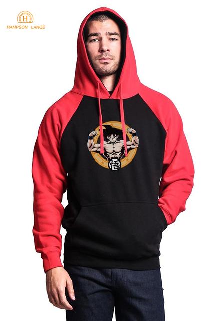 Dragon Ball Z Goku Men's Raglan Sweatshirts Hoodie