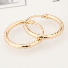 Original New Fashion Gold Mini Hoop Earrings For Women Men Punk Silver Simple Round Earring Female Jewelry Gift Brincos(China)