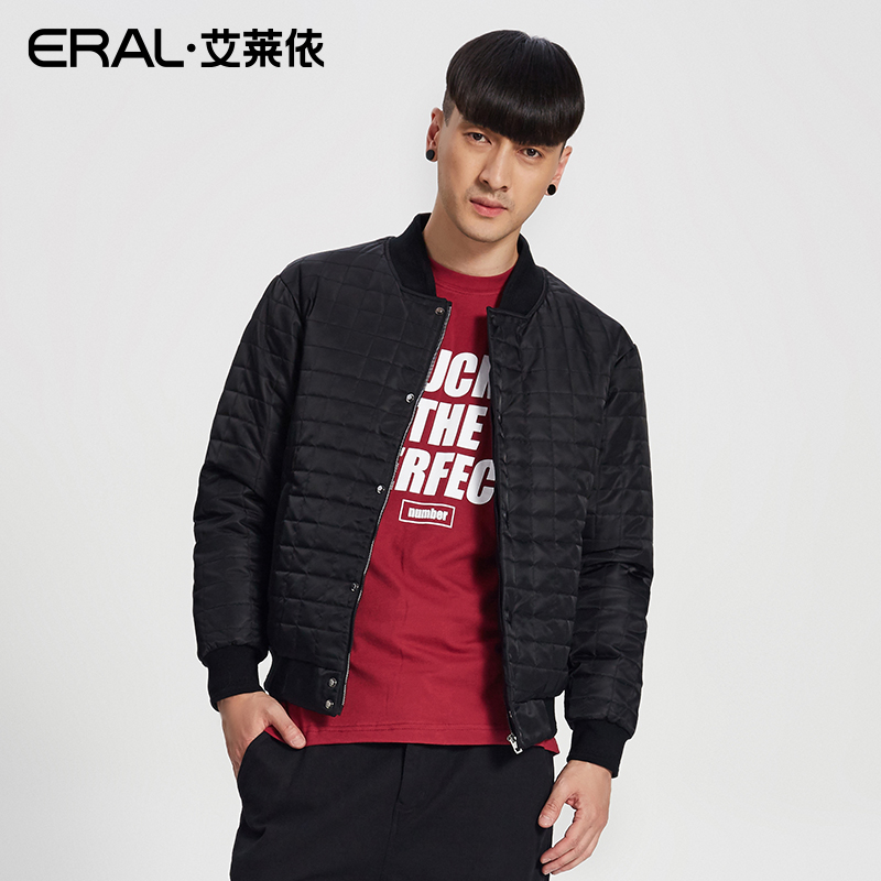 ERAL Mens Winter Coat 2017 New Arrival Breif Solid Casual Thermal Short Down Jacket Male Plus Size ERAL19021-FDAA