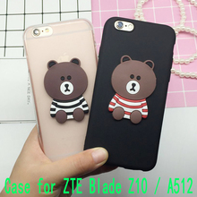 3D Coque Cute Bear Case for ZTE Blade Z10 / A512 Back Cover Soft Silicone Cute Cartoon Phone Cases Capa Funda Shell Bags