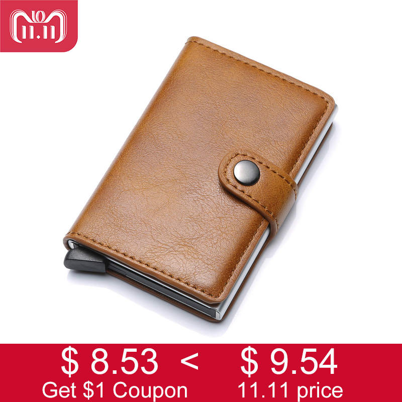 DIENQI Rfid Card Holder Men Wallets Money Bag Male Vintage Brown Short Purse 2018 Small Leather Smart Wallets Mini Wallets baellerry small mens wallets vintage dull polish short dollar price male cards purse mini leather men wallet carteira masculina