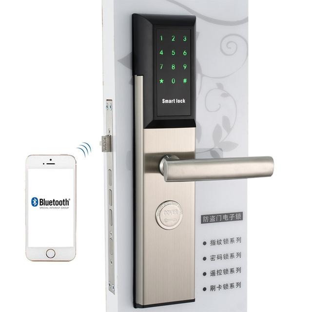 Wifi Smart Digital Safe Door Locks, Smart Home Lock password Pin Code Door Digital Lock electronic App Remote Control Door Lock