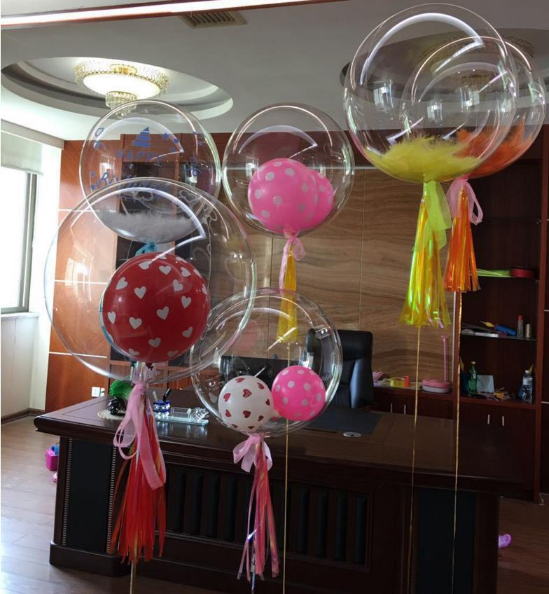 36 Inches Bobo Bubble Clear Balloons Wedding Christmas