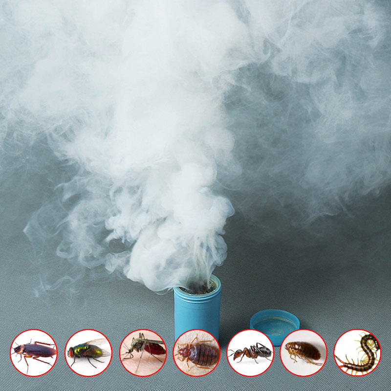 4PCS Smoke Insecticides Fast Comprehensive Poison Bomb For Cockroach Bait Magical Smog Fly Bed Bugs Mosquito Ant Killer New 2019