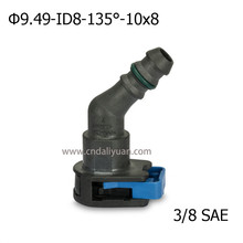 high quality 9 49mm 135 degree SAE 3 8 Fuel pipe joint Fuel line quick connector
