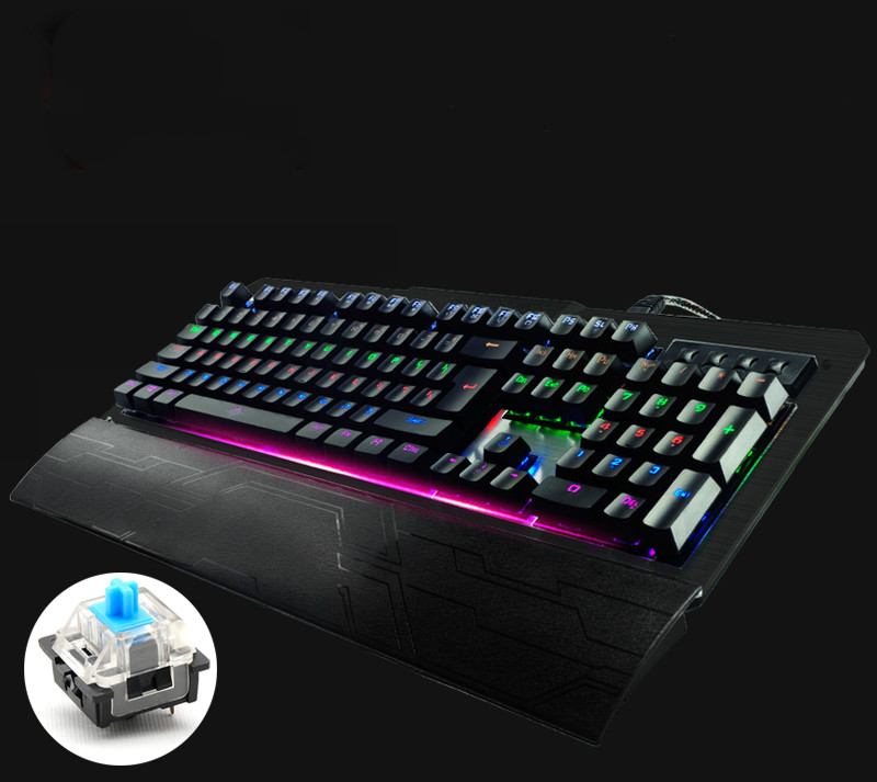 Ruyi Bird K-26 Eight Backlight Model Mechanical Gaming Keyboard Blue/Black Switches104 Keys Wired USB Keyboard For E-sports rainbow gaming backlight keyboard 87 keys colorful mechanical keyboard with blue black switches desktop for pc laptop