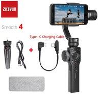 Zhiyun 부드러운 4 Q 3 축 핸드 헬드 짐벌 안정제 스마트 폰 아이폰 XS X 8P 8 7 6S SE 삼성 S9 S8 S7 충전 케이블