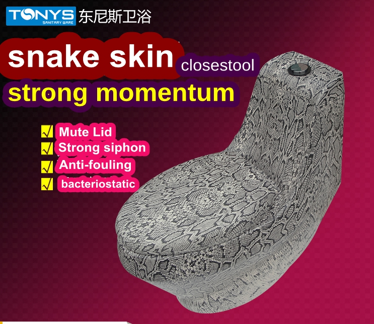 one-piece toilets Snakeskin Pattern Ceramic Closestool home hotel KTV Unique Bathroom toilets siphonic Jet toilet bowl stinkpot bamboo pattern wooden small gadgets pencils rulers pens holder