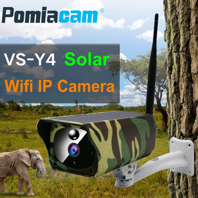 2MP Solar Camera Outdoor Waterproof Camouflage Wifi IP Camera Night Vision Surveillance CCTV Camera Video Recorder