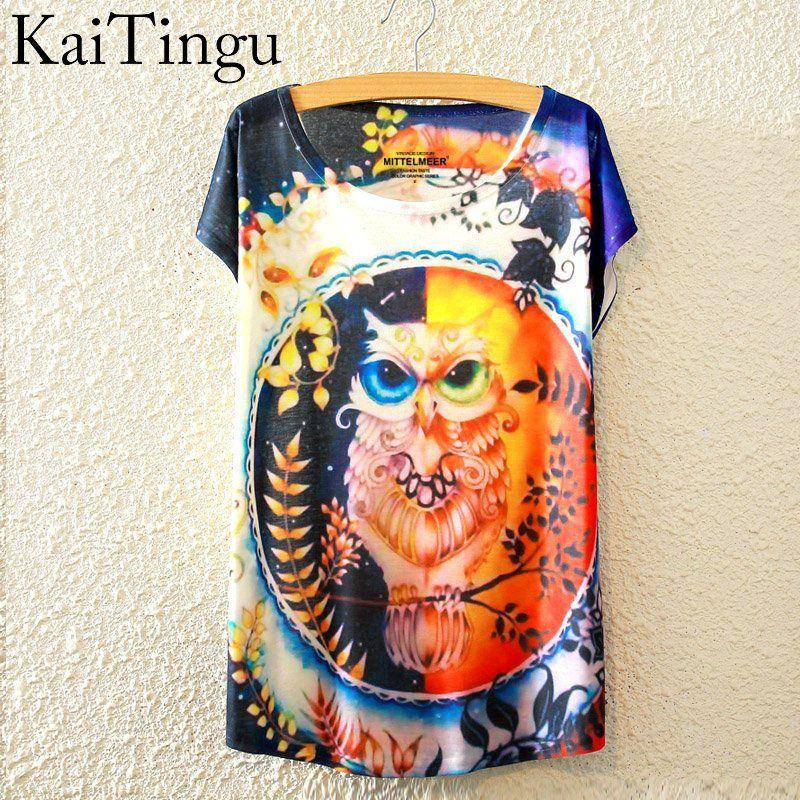 HTB1cadzLpXXXXbXaXXXq6xXFXXXQ - New Fashion Summer Animal Cat Print Shirt O-Neck Short Sleeve T Shirt