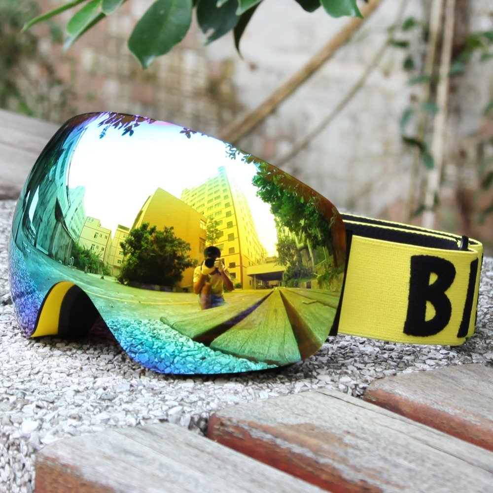 ФОТО New design Benice brand Cool Snow Goggles Windproof 100% UV 400  double lens Eye wear Protective Safety Skiing Goggles SNOW-4500