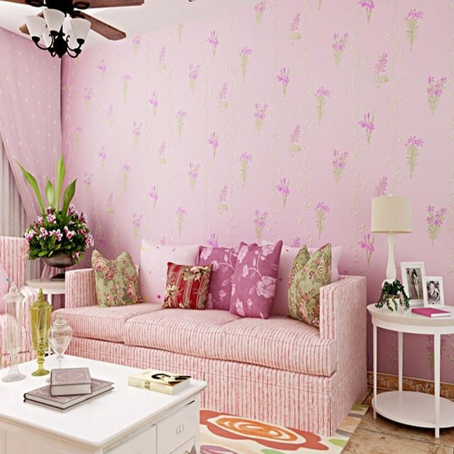 Free Shipping 3D Stereo Wallpaper Warm Pastoral Floral Wallpaper ...