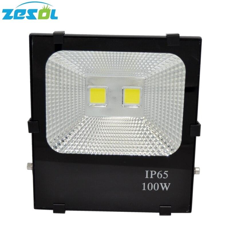 ZESOL LED Flood Light 100W Udendørsbelysning Gargen Lamp Spotlight Reflektor AC85-265V IP65 Vandtæt