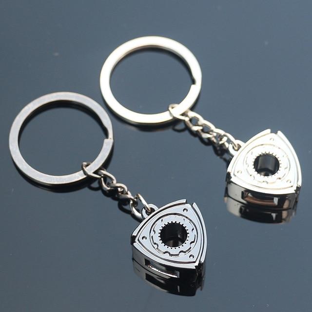 Wankel rotor model keychain key ring Wankel Engine rotor key chain keyfob creative portachiavi chaveiro llaveros hombre