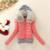 2016 Mujeres Abrigo de Invierno de Algodón Acolchado Chaqueta Corta de Punto Capucha Cuello de Piel Para Mujer Chaquetas de Invierno y Abrigos