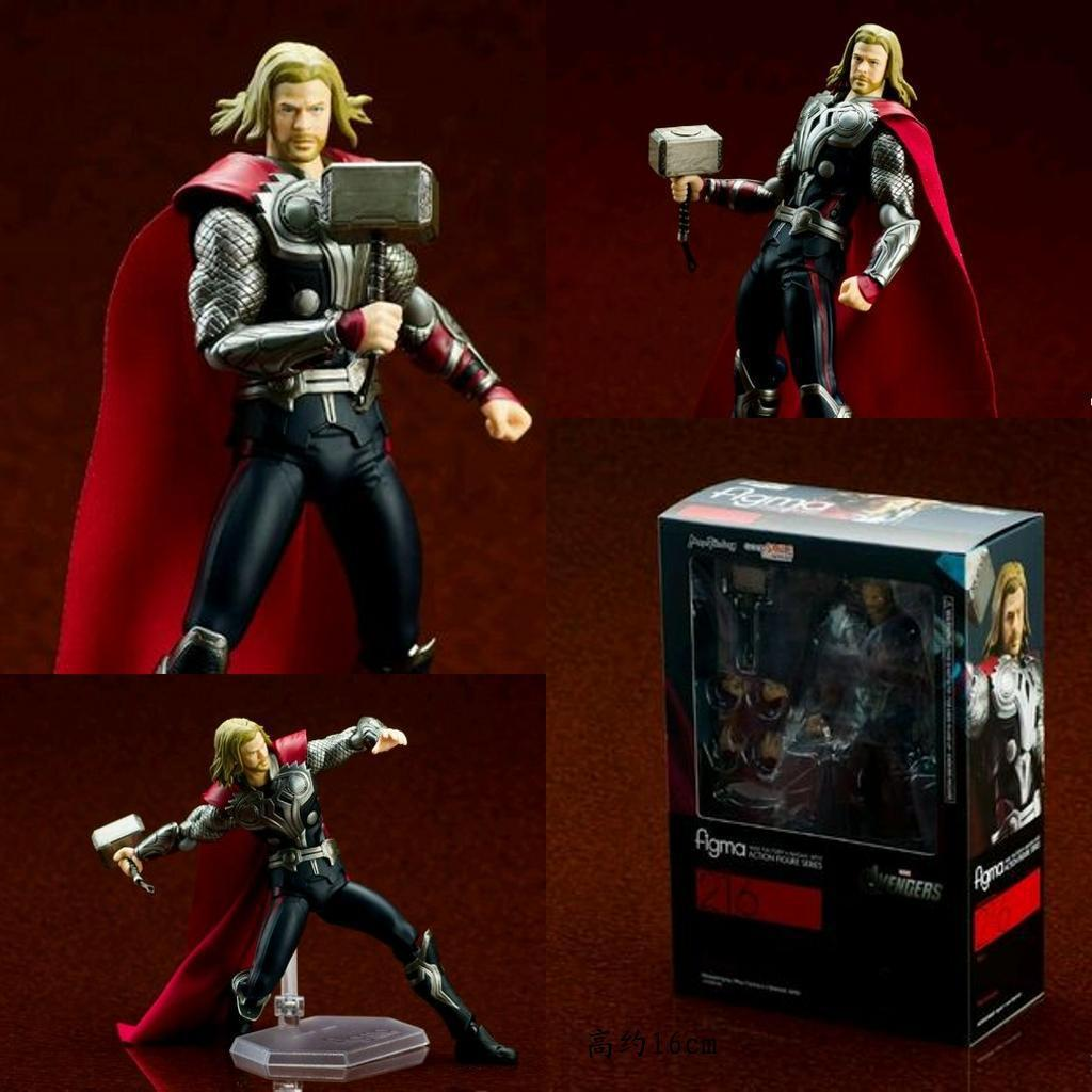 <font><b>Marvel</b></font> <font><b>the</b></font> <font><b>Avengers</b></font> <font><b>Thor</b></font> <font><b>Figma</b></font> 216# PVC <font><b>Action</b></font> <font><b>Figure</b></font> Collectible Model Toy 14cm KT916
