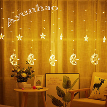 3.5M LED String Moon Star Lamp Holiday Christmas Decorative Wedding xmas String Fairy Curtain Garlands Strip Party Lights ac220v 6x3m 600led home outdoor holiday christmas decorative wedding xmas string fairy curtain garlands strip party lights