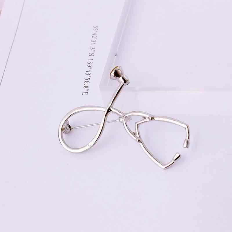 Dokter Stetoskop Desain Bros bros Perhiasan Fashion Geometri Sederhana Di Eropa Dan Amerika Bros Untuk Wanita