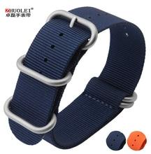 Montre band 22 mm nouveaux hommes ZULU haute qualité bleu Nylon bracelet Heavy Duty bandes otan