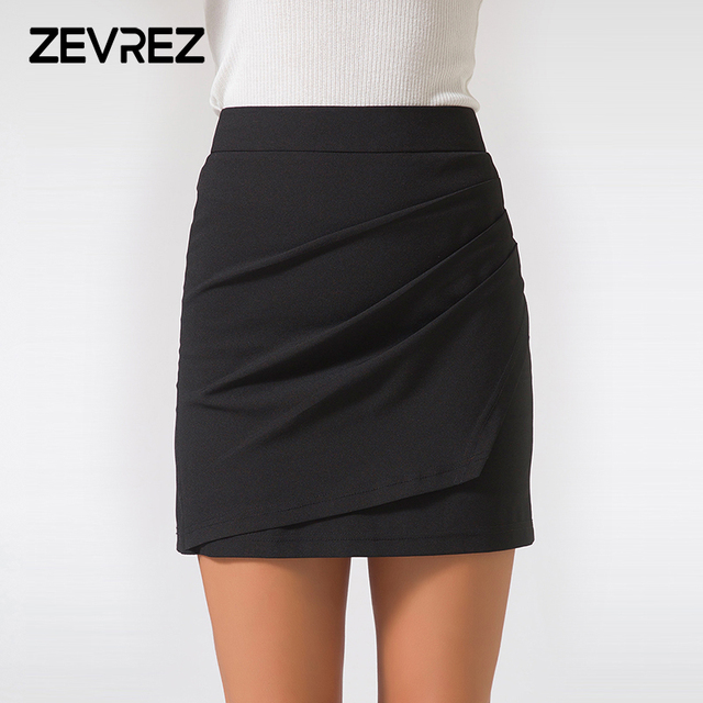 940f57b5ae2b8 XS-5XL Plus Size Black Pencil Skirt Summer 2018 Bodycon High Waist Skirts  Work Office Slim Women s Tight Sexy Mini Skirt Zevrez