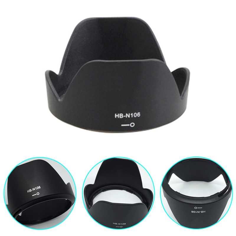 كاميرا عدسة هود HB-N106 55 ملليمتر حربة البتلة عكسية عدسة هود لنيكون D3400 D3300 D5300 AF-P DX 18- 55 ملليمتر f/3.5-5.6 جرام VR عدسة