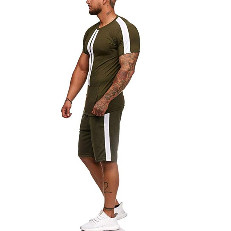 Summer Men's Jogging Suit With Short Sleeves, T-shirt And Shorts