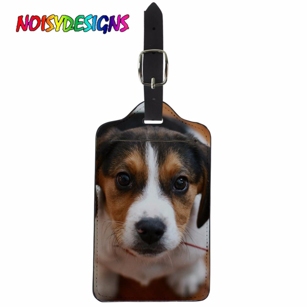 NOISYDESIGNS Travel Accessories Luggage&bags Accessores Cute Beagle Dog Travel Luggage Label Straps Suitcase Luggage Tags