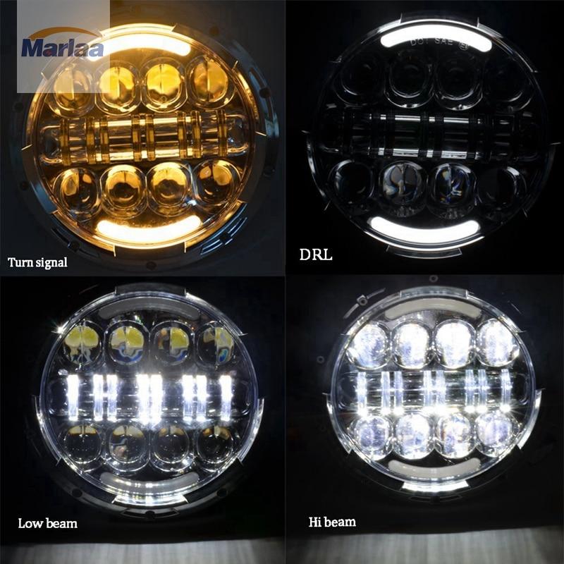 2шт точка САЭ Э9 80 Вт 7 дюймов LED фары джипов с белым/ янтарным гало кольцо DRL для Jeep Вранглер JK и TJ Хаммер Н1, Н2