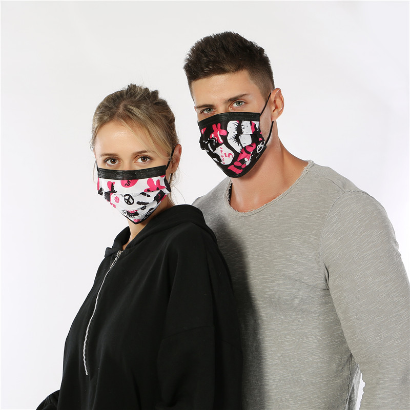 50pcs/Pack Fashion Surgical Mask Cotton Mascara Boca Nariz Disposable Face Masks Rescate Ear Muffs Mouth Dust Masks