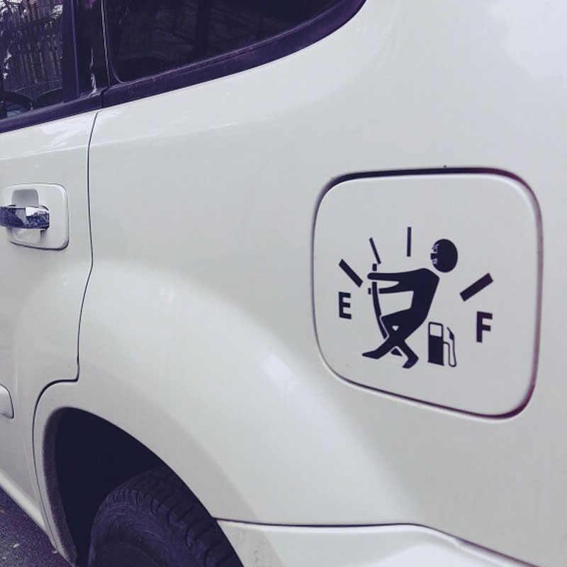 12.7CM * 9.2CM haute consommation de gaz décalcomanie jauge de carburant vide autocollants drôle vinyle JDM voiture autocollants style noir argent C8-0821