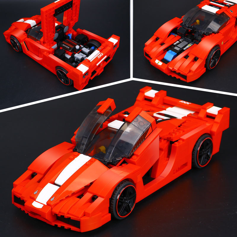 все цены на L Model Compatible with Lego L21009 632PCS Racing Car Models Building Kits Blocks Toys Hobby Hobbies For Boys Girls онлайн