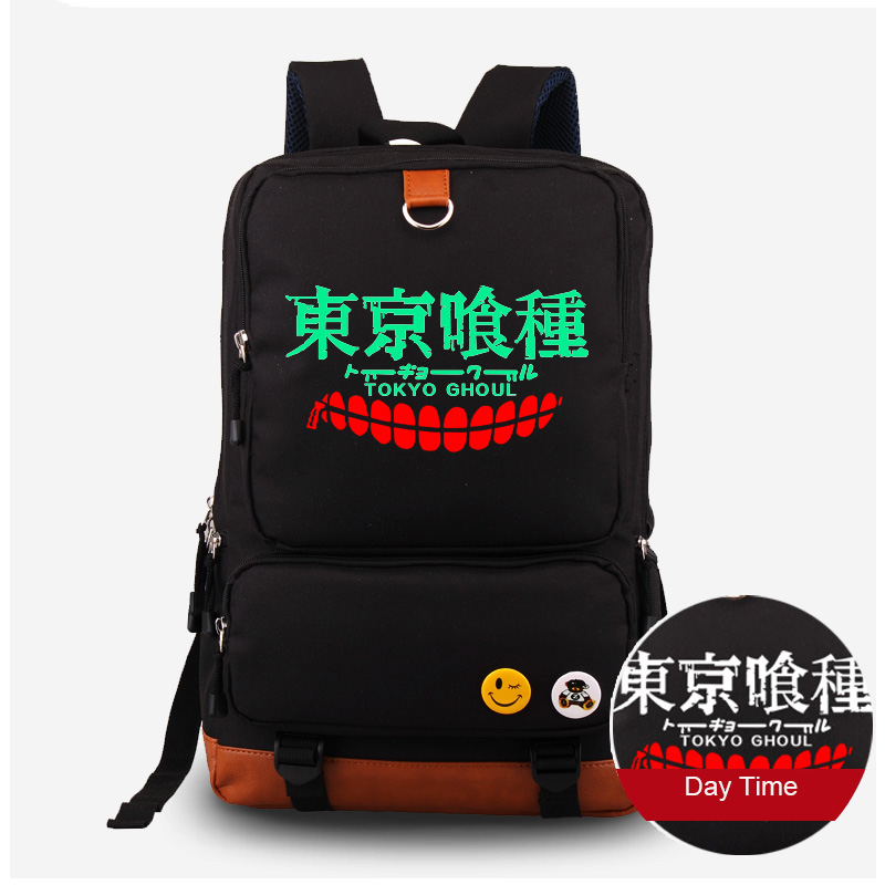Cartoon Tokyo Ghoul Luminous Backpack Canvas Shoulder Bag Computer Schoolbag Travel Rucksack SatchelCartoon Tokyo Ghoul Luminous Backpack Canvas Shoulder Bag Computer Schoolbag Travel Rucksack Satchel