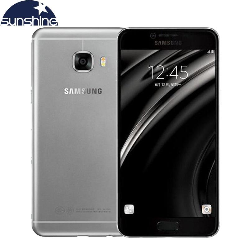 "Original Unlocked <font><b>Samsung</b></font> <font><b>Galaxy</b></font> C5 4G LTE Mobile Phone Octa Core Android 6.0 5.2""<font><b>Full</b></font> HD 16.0MP Dual SIM 4GB RAM NFC Smartphone"