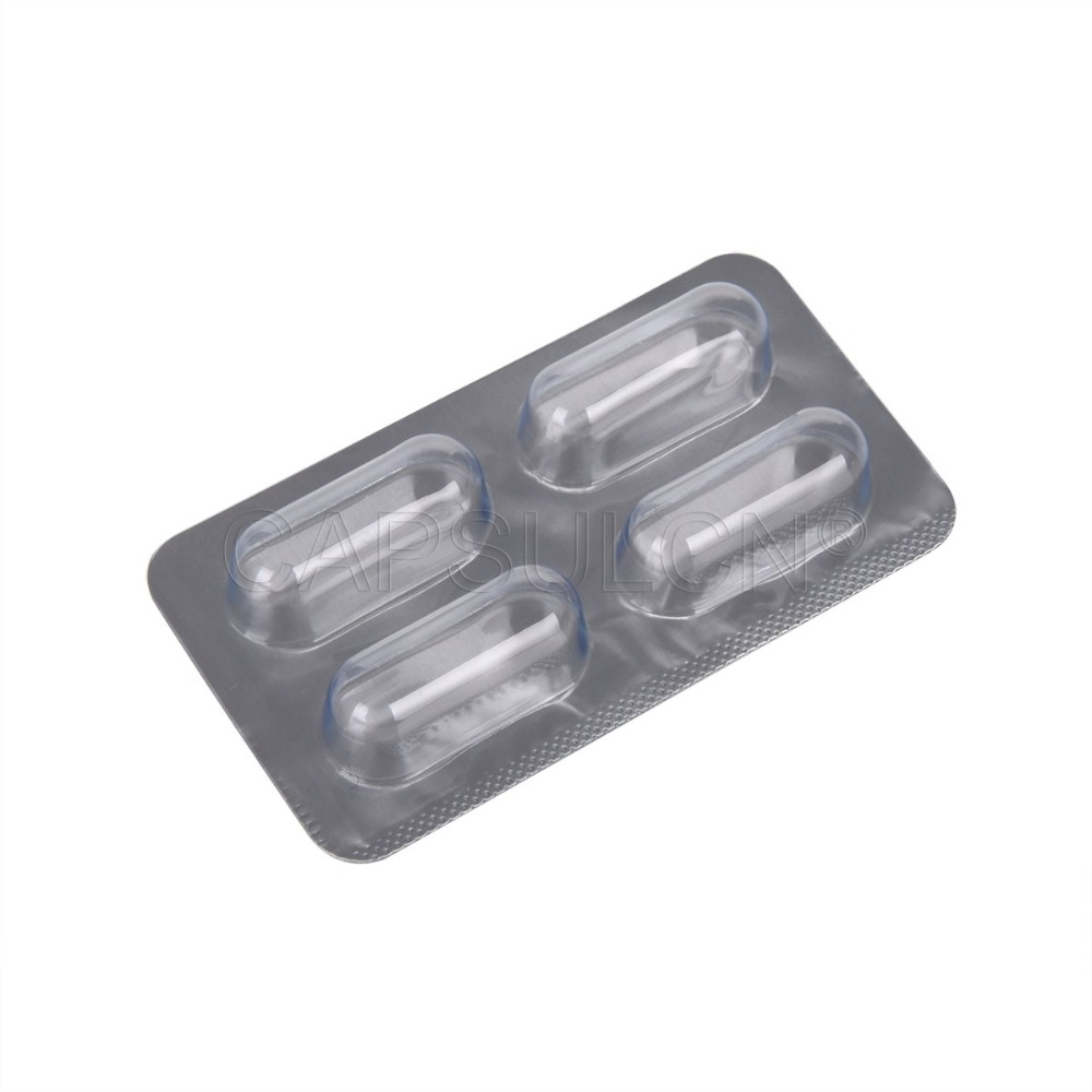 4 trous Capsules Blister Pack Taille 00 capsules, 300 pcs Capsule Blister Emballage Feuille
