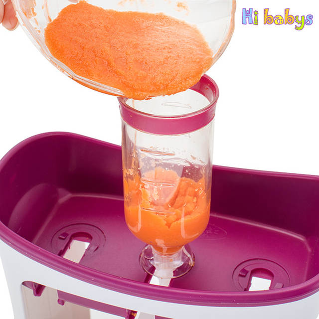 US $6 35 10% OFF|Baby Food Containers Baby Food Maker Child Fresh Fruit  Juice Distributor Infant Strawberry Storage Newborn Feeding Accessories-in