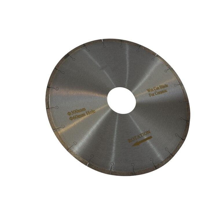 DB01 12 pouces D300mm poisson crochet jante continue lames de diamant pour céramique silencieux lames de coupe disque de coupe une pièce