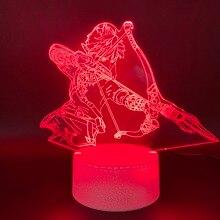 Novelty Lights Game The Legend of Zelda Link Figure Home Decor Light Birthday Gift for Kids Bedroom 3d Led Night Light Lamp Boy недорого