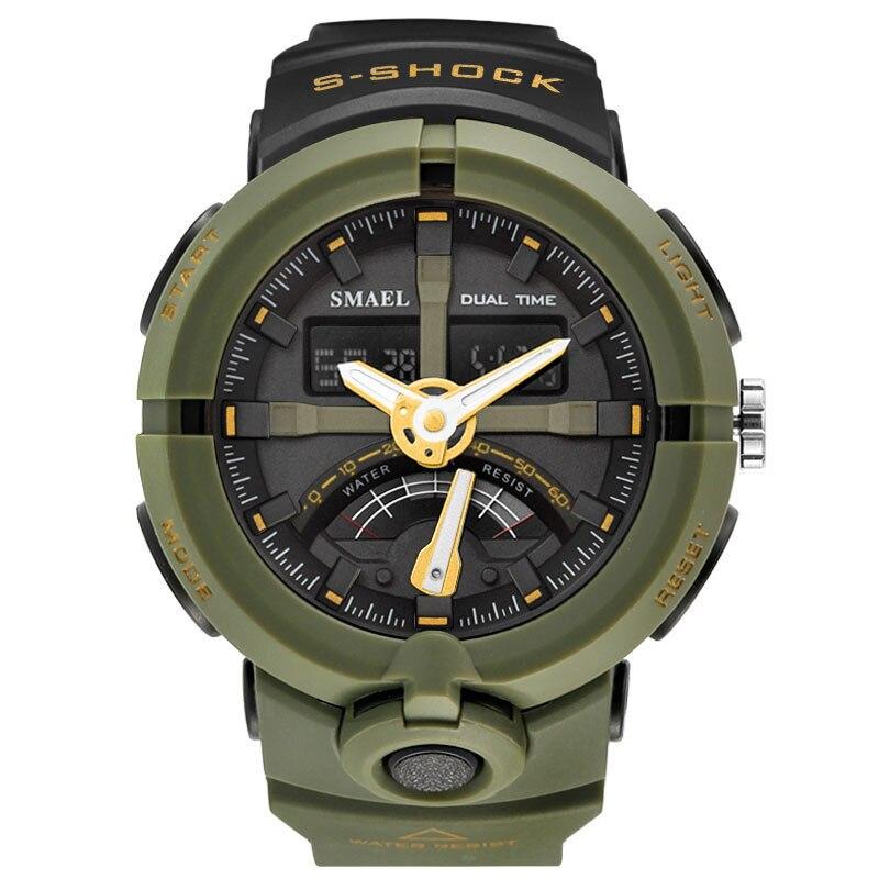 SMAEL Mode Sport Montre Hommes Top Marque De Luxe Célèbre Étanche LED Numérique Montre-Bracelet Homme Horloge Pour Homme Relogio Masculino 01