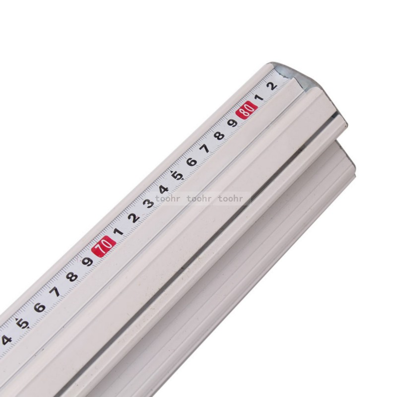 For Kt board Pvc board Manual Cutting ruler aluminum alloy anti-skid Positioning cutting ruler cutting track Woodworking tool (White)