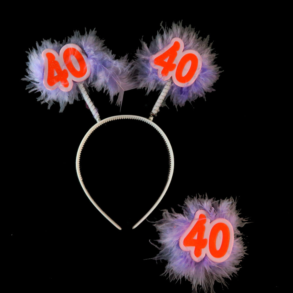 Fashion Purple Birthday party <font><b>decoration</b></font> headband Badge set novelty funny Yellow 21 <font><b>30</b></font> 40 50 happy birthday event party supplies image